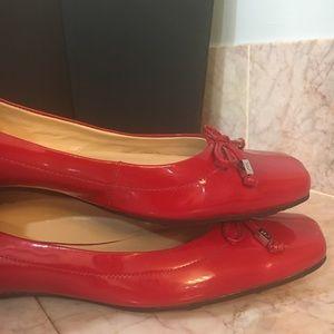 Anne Klein Sport Shoes - Anne Klein Sport Red Patent Leather Flats